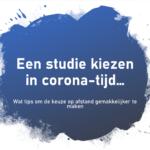 Een studie kiezen in corona-tijd